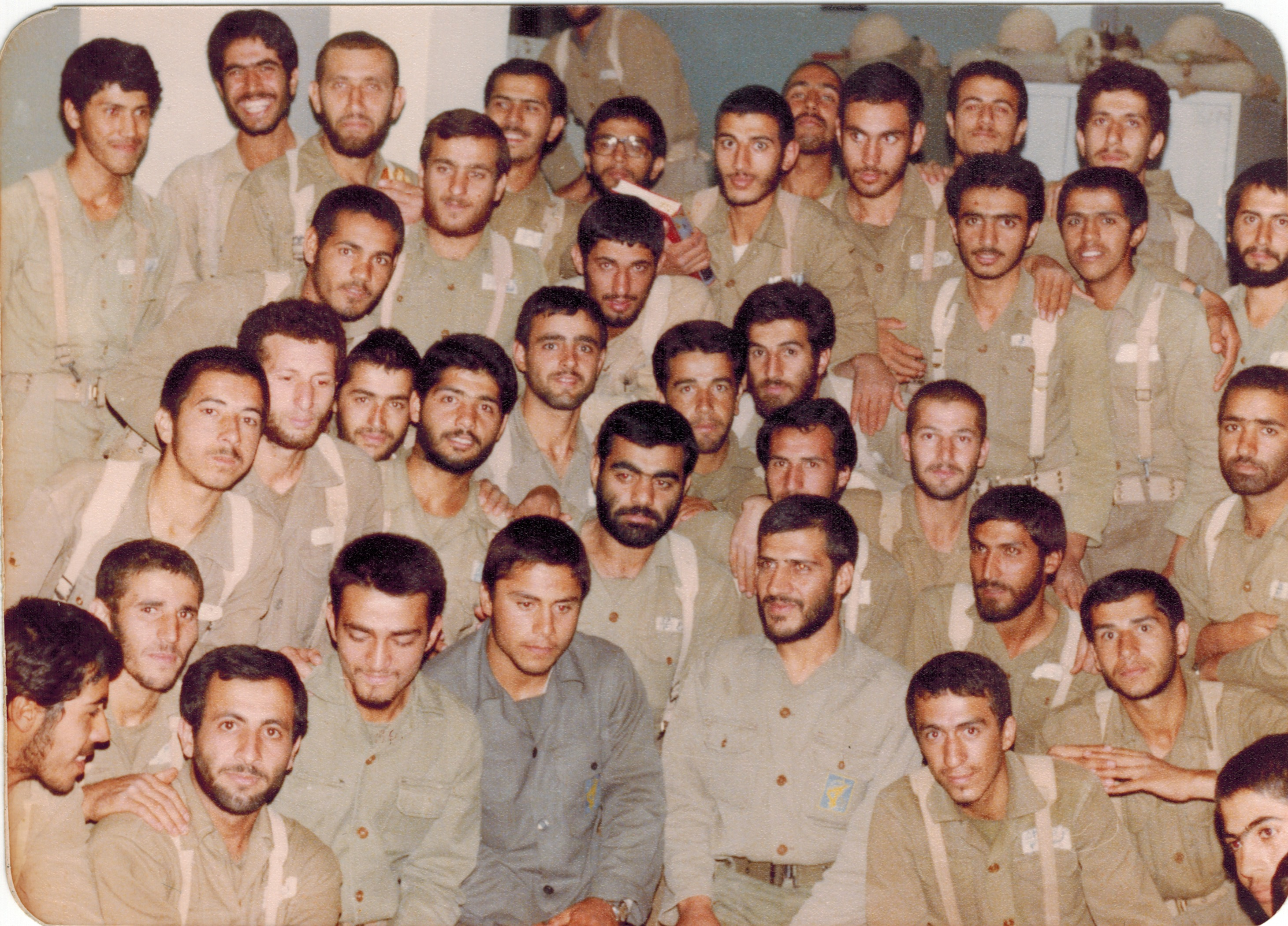 Group Portrait of Soldiers in Uniform